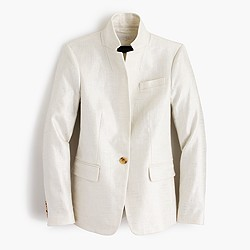 Regent blazer in metallic linen