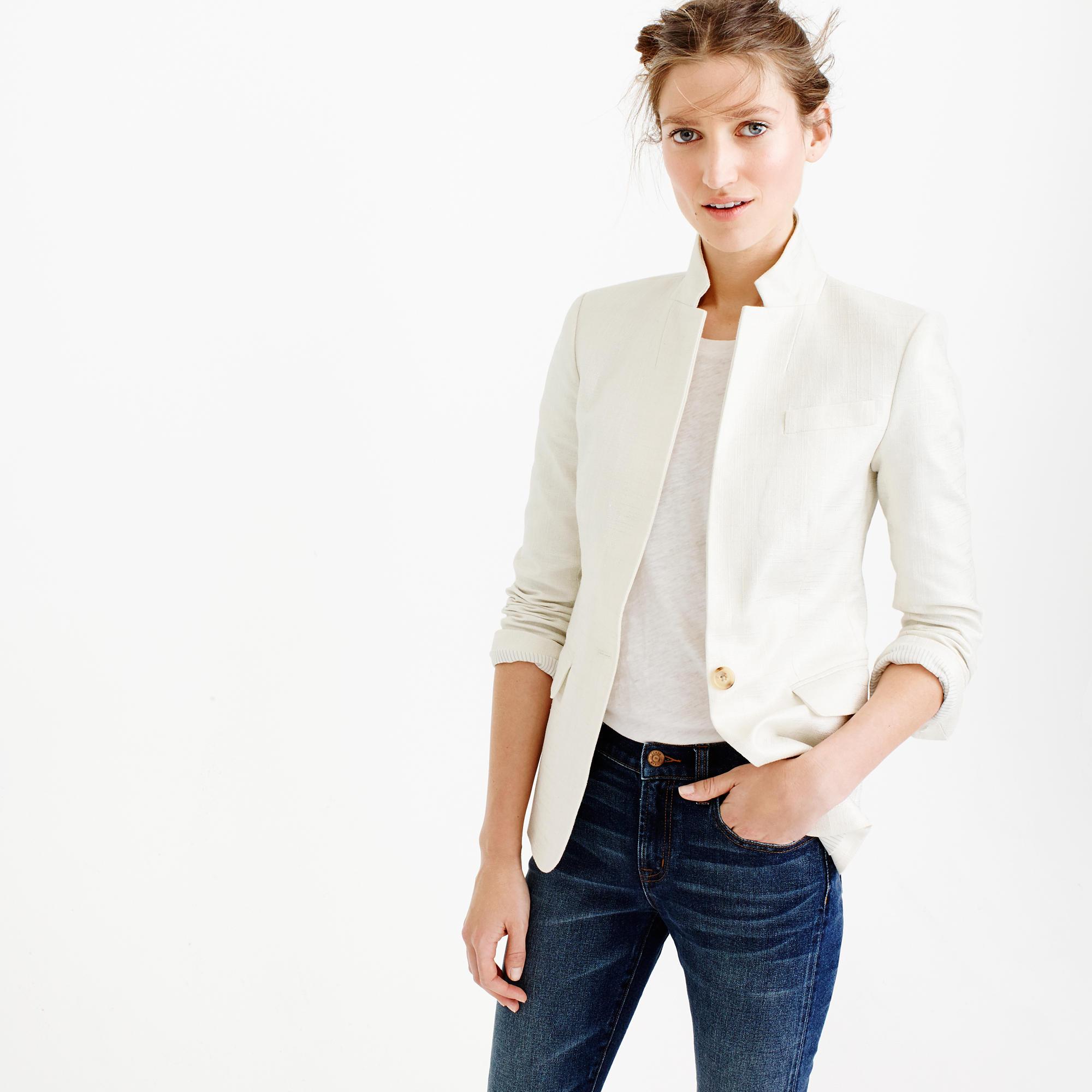 Regent blazer in metallic linen : | J.Crew