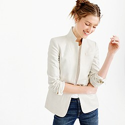 Tall Regent blazer in metallic linen