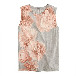 Photo floral tank top