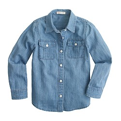 Girls' everyday denim shirt