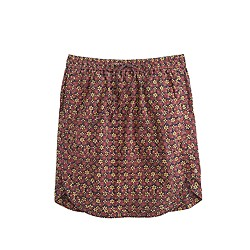 Pull-on skirt in plum flowers