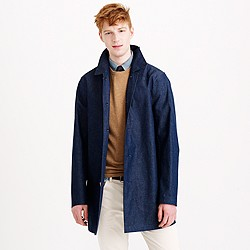 Mackintosh® Laggan half-trench coat in Japanese chambray