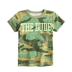 Boys' the dude camo T-shirt
