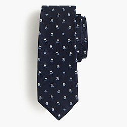 English silk tie in multifloral