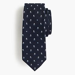 English silk tie in multifloral