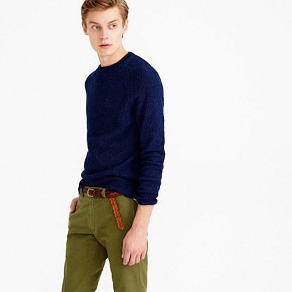 Wallace & Barnes indigo seedstitch sweater