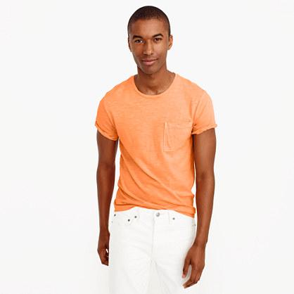 Slim garment-dyed T-shirt