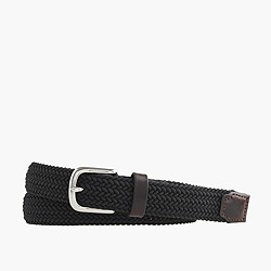 Braided fabric belt