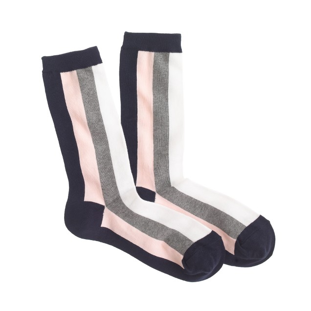 Big-stripe trouser socks
