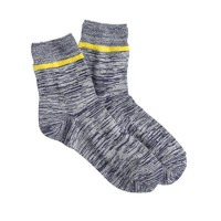 Marled stripe trouser socks