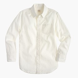Kids' linen-cotton shirt in white