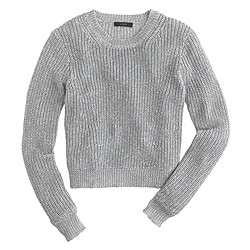 Ribbed shimmer sweater