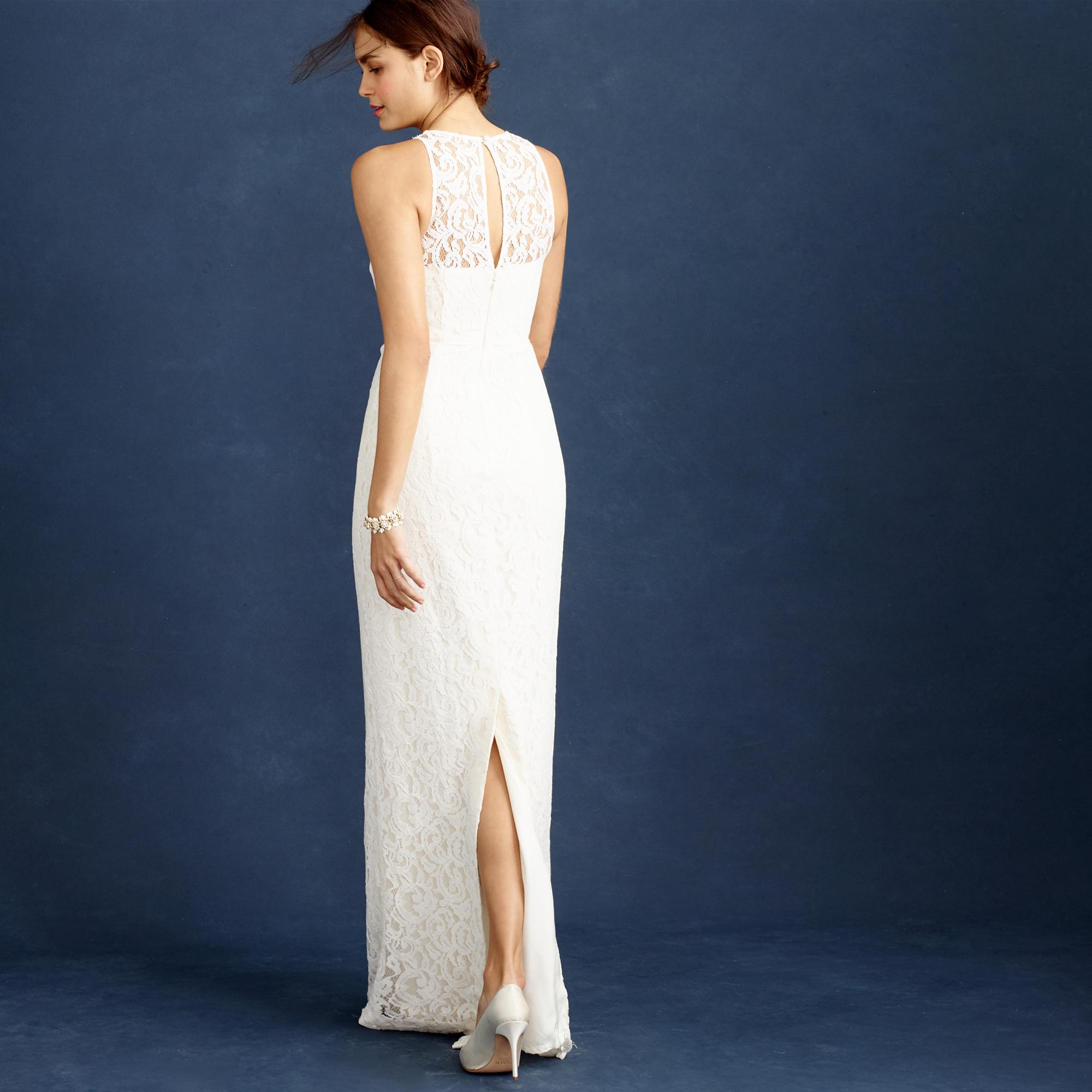 C j crew wedding dress Pamela gown