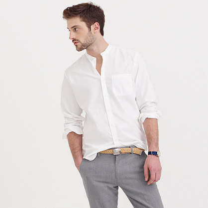 Secret Wash band-collar shirt