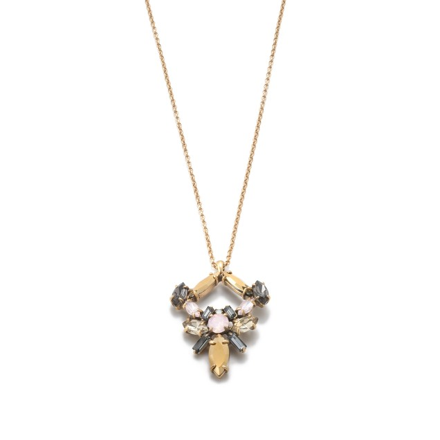 Spikey cluster pendant necklace