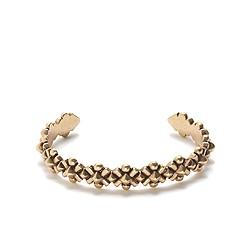 Metal bloom cuff bracelet
