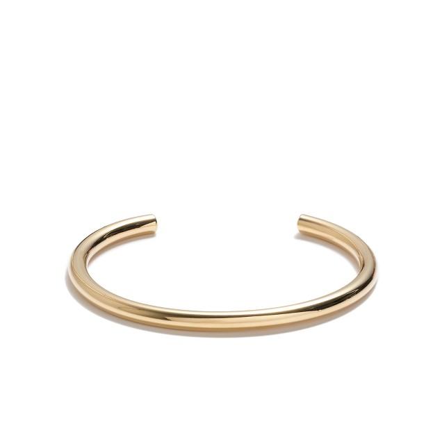 Rounded tube cuff bracelet