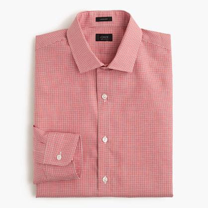 Ludlow Irish cotton-linen shirt in vineyard grape microgingham