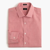 Ludlow Irish cotton-linen shirt in vineyard grape microgingham