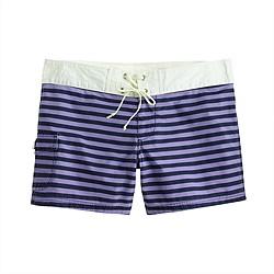 Striped board short