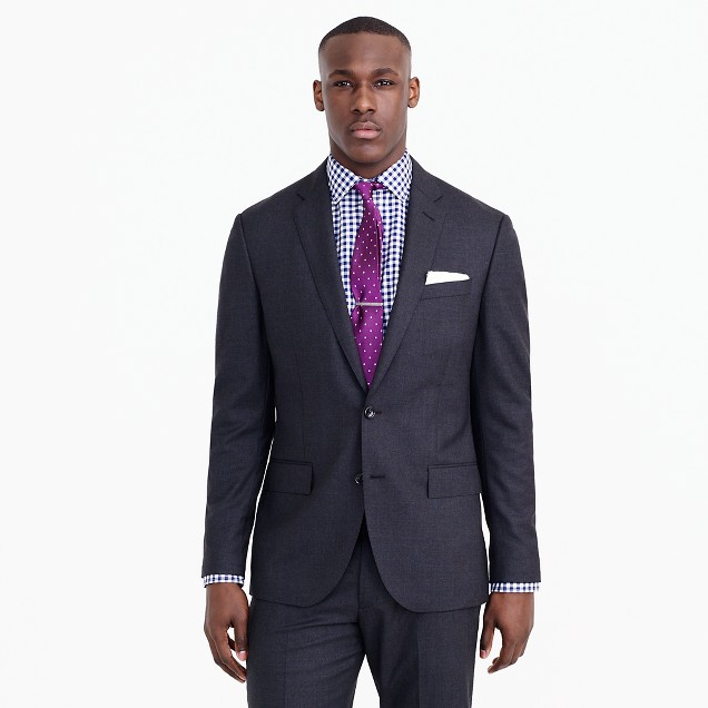 Crosby suit jacket with double vent in Italian wool