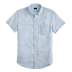 Short-sleeve Irish linen shirt