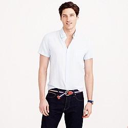 Short-sleeve Irish linen shirt
