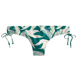 Tropical fern side-tie bikini bottom
