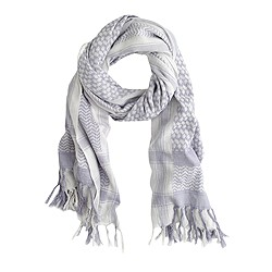Mixed print fringe scarf