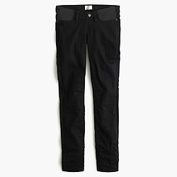 Tall maternity pull-on toothpick jean in black