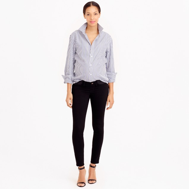 Maternity pull-on toothpick jean in black