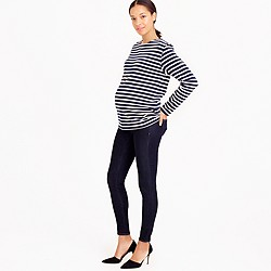 Maternity pull-on toothpick jean in rinse wash