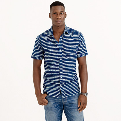Industry of All Nations™ madras batik striped shirt