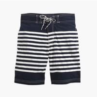 Kids' board short in dark navy stripe