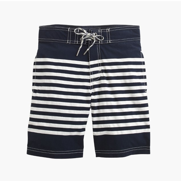 Kids' board short in dark navy stripe