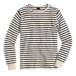 Cotton sweater in nautical stripe