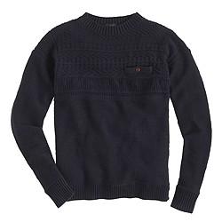 Rustic cotton fisherman sweater