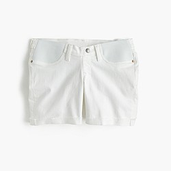 Maternity denim short in white
