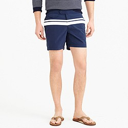 "6.5"" tab swim short in midnight stripe"