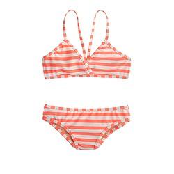 Girls' bikini set in mixed stripe