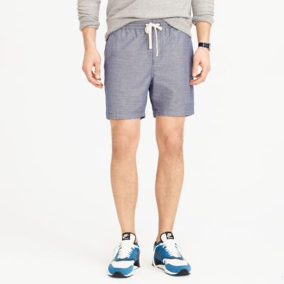 Dock short in chambray