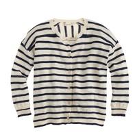 Girls' striped cardigan sweater