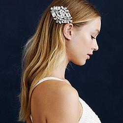 Large jeweled comb