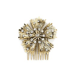 Jeweled floral comb