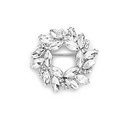 Circular jeweled pin