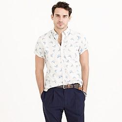 Secret Wash short-sleeve shirt in sailfish print