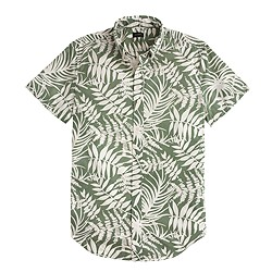 Secret Wash short-sleeve shirt in fern print