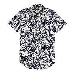 Secret Wash short-sleeve shirt in fern print