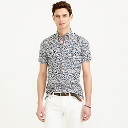 Secret Wash short-sleeve popover shirt in coastline navy floral